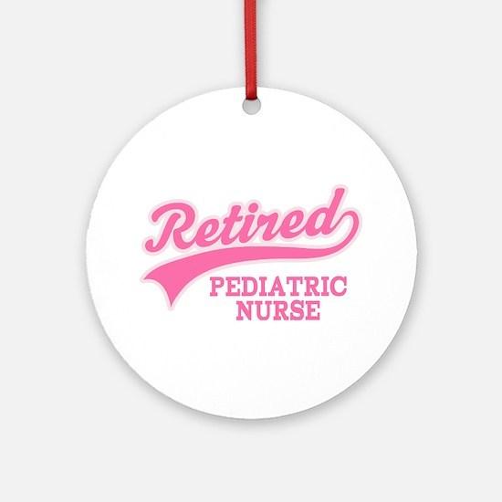 Retired Pediatric Nurse Ornament (Round)