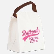 Retired School Nurse Canvas Lunch Bag