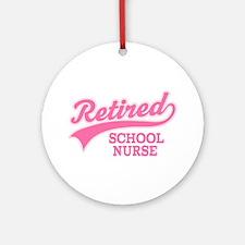 Retired School Nurse Ornament (Round)