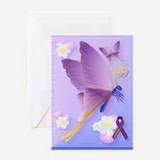 Purple Fibro Awareness Greeting Card