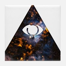 All Seeing - Cosmic Tile Coaster