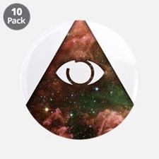 "All Seeing - Cosmic 3.5"" Button (10 pack)"