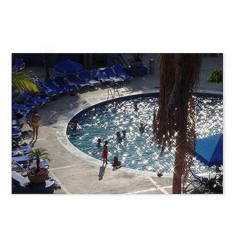 Sun sparkles on a cool pool Postcards (P