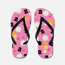 Volleyball Player Number 2 Flip Flops