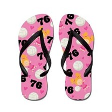 Volleyball Player Number 76 Flip Flops