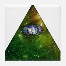 Cosmic Pyramid Tile Coaster
