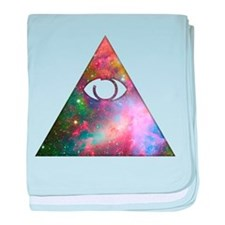 All Seeing Cosmic Eye baby blanket
