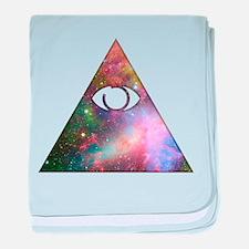 All Seeing Cosmic Eye baby blanket