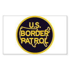 gold/black border patrol Decal
