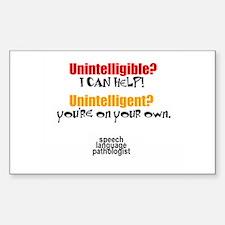 UNINTELLIGIBLE/UNINTELLIGENT Oval Decal