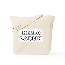 HELLO DARLIN Tote Bag