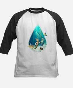 Cute Mermaid 2 Kids Baseball Jersey