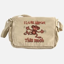 I love Aaron this much Messenger Bag