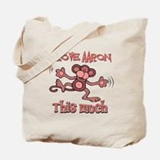 I love Aaron this much Tote Bag