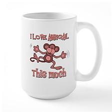 I love Abbigail this much Mug