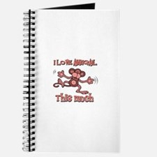 I love Abbigail this much Journal