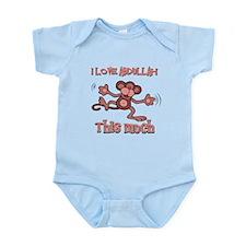 I love Abdullah this much Infant Bodysuit