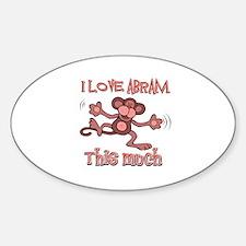 I love Abram this much Sticker (Oval)