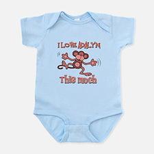 I love Adalyn this much Infant Bodysuit