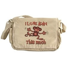 I love Adan this much Messenger Bag