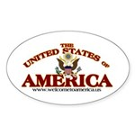 The United States of America Oval Sticker