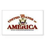 The United States of America Rectangle Sticker