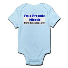 Preemie Miracle, Born 2 months early baby Bodysuit