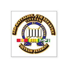 "3rd Battalion, 7th Infantry Square Sticker 3"" x 3"""