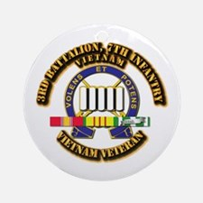 3rd Battalion, 7th Infantry Ornament (Round)