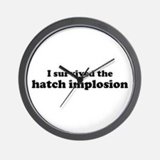 I Survived Hatch Implosion Wall Clock