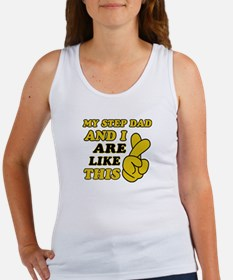 Me and Step Dad are like this Women's Tank Top