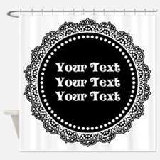 CUSTOM TEXT Gothic Round Shower Curtain