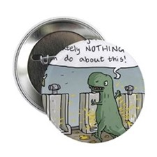"T-Rex Toilet 2.25"" Button"