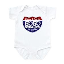 50 States 50 Days Infant Creeper