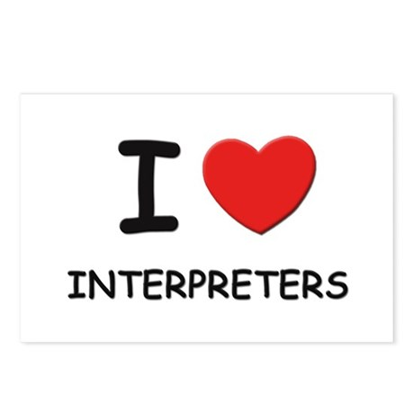 I love interpreters Postcards (Package of 8)