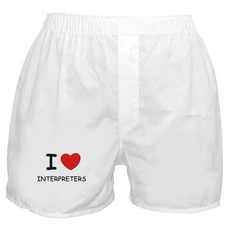 I love interpreters Boxer Shorts