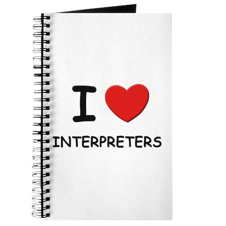 I love interpreters Journal