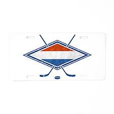 Nederlandse Ijshockey Flag Aluminum License Plate