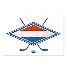 Nederlandse Ijshockey Flag Postcards (Package of 8