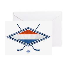Nederlandse Ijshockey Flag Greeting Card
