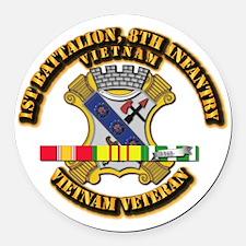 1st Battalion, 6th Infantry Round Car Magnet