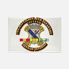 1st Battalion, 6th Infantry Rectangle Magnet