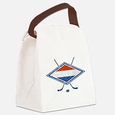 Nederlandse Ijshockey Flag Canvas Lunch Bag