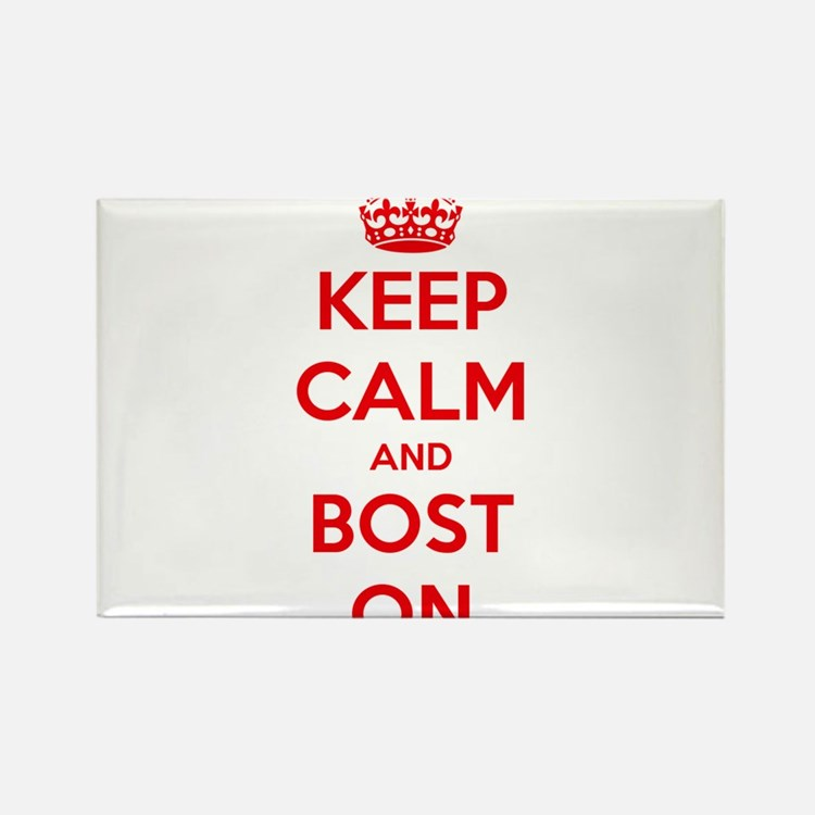 Keep Calm and Boston Rectangle Magnet (10 pack)