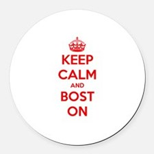 Keep Calm and Boston Round Car Magnet