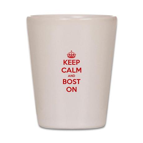 Keep Calm and Boston Shot Glass