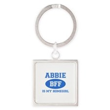 Abbie is my homegirl Square Keychain