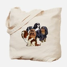 toy spaniel group Tote Bag