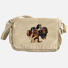 toy spaniel group Messenger Bag