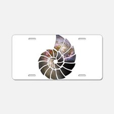 Cosmic Shell Aluminum License Plate
